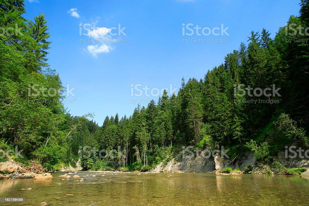 Wild Mountain River stock photo