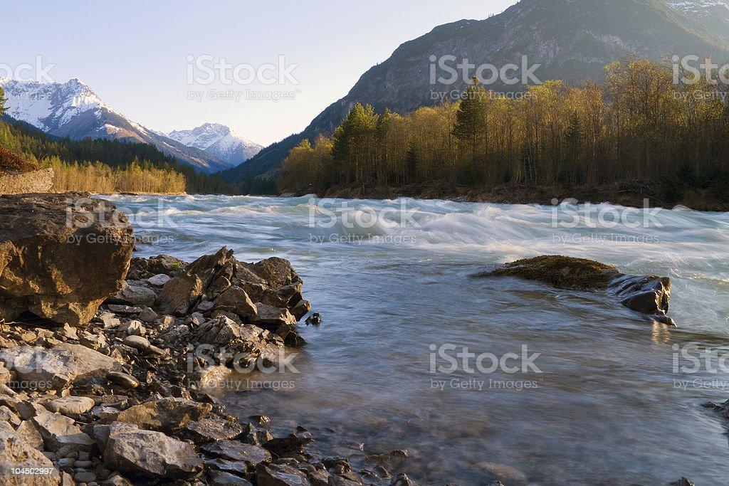 wild mountain stream stock photo