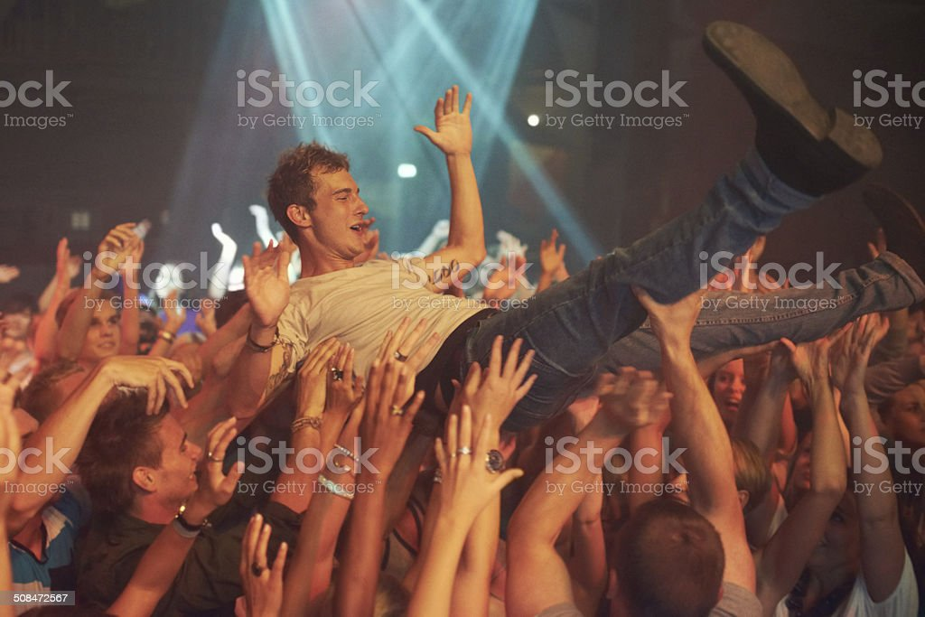 Wild music moves stock photo