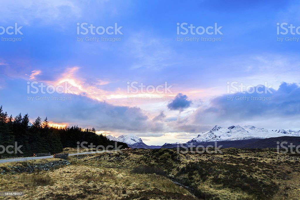 Wild Nature Ladnscape at Early Morning, Isle of Skye royalty-free stock photo