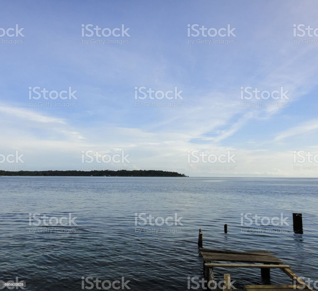 Wild nature of Panama. Tropical forests of Bocas del Toro archipelago. Central America stock photo