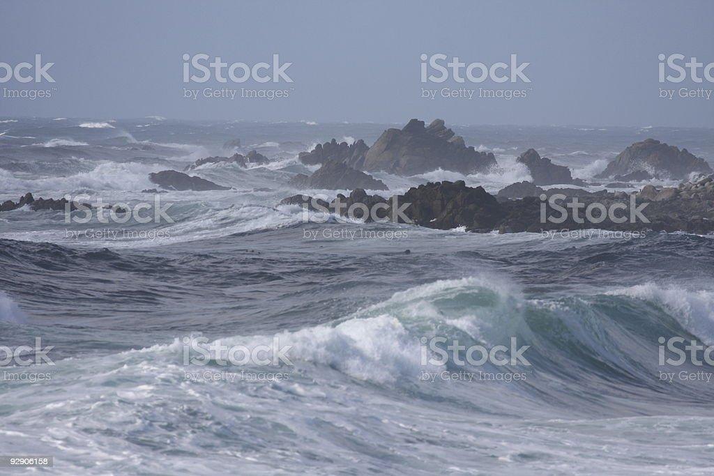 wild ocean stock photo