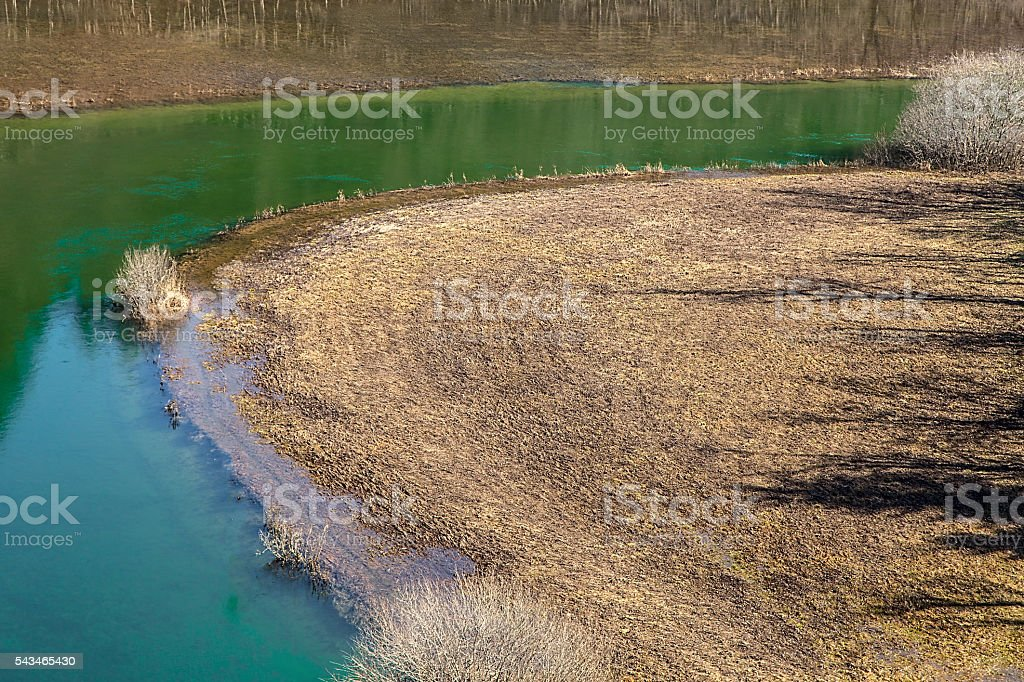 Wild river Rak - Rakov Skocjan, Slovenia stock photo
