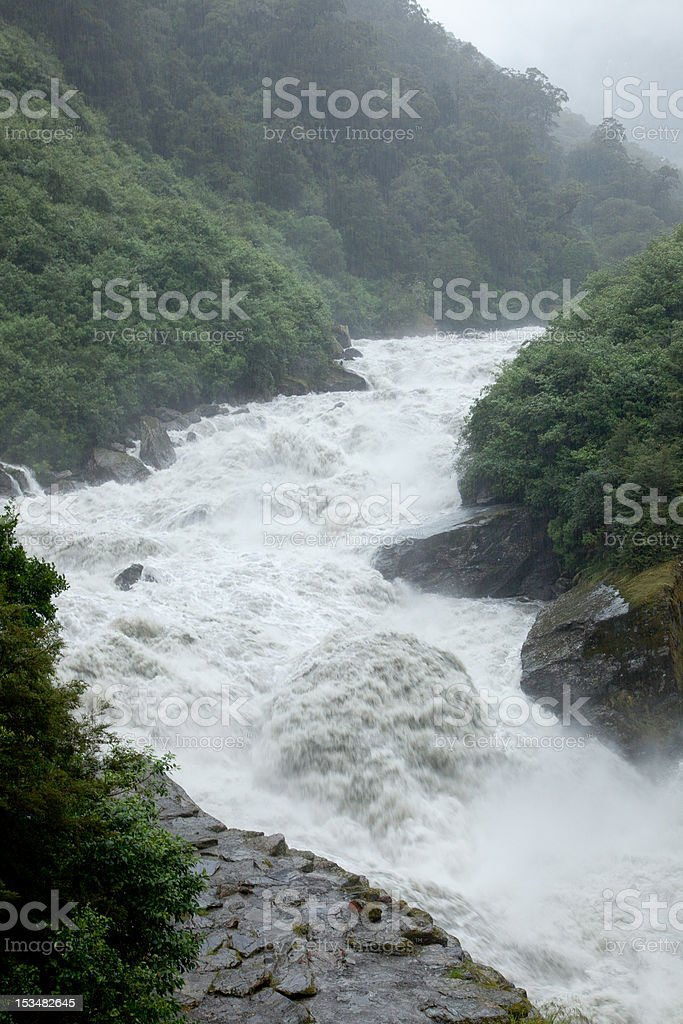 Wild river thrashing stock photo