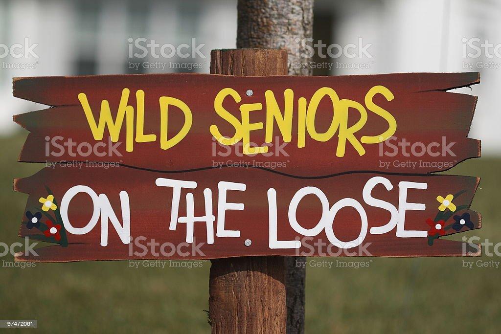 Wild Seniors on the Loose stock photo