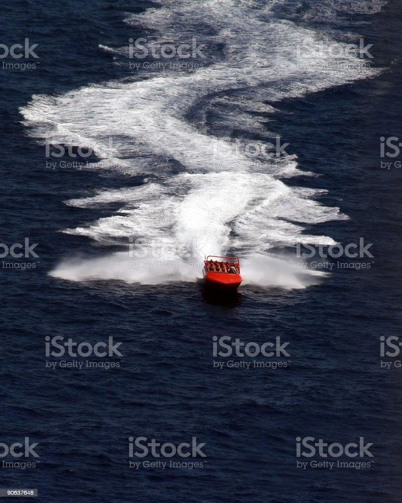 Wild Speed Boat Ride stock photo