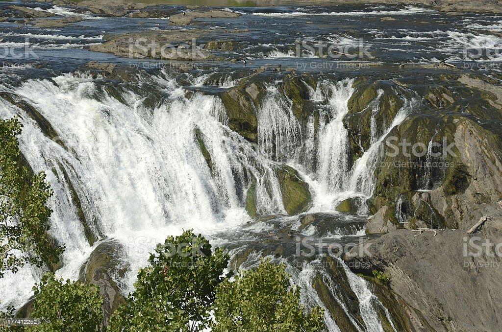 Wild waterfall stock photo