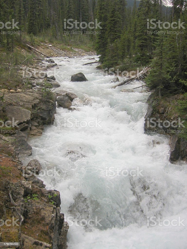 wild waters coming down the mountains royalty-free stock photo