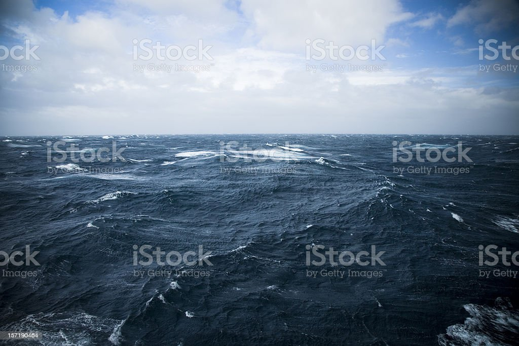Wild Waters Drake Passage stock photo