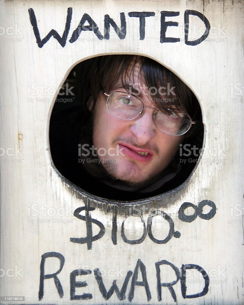 Wild West Bad Guy Wanted Poster royalty-free stock photo