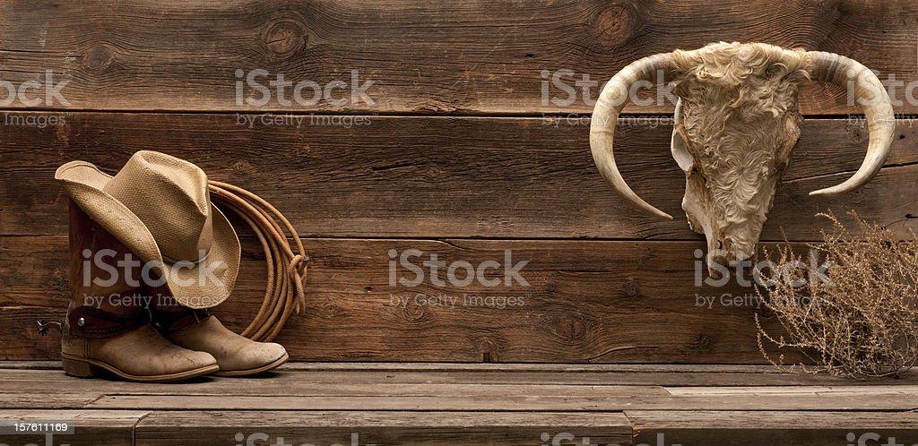 Wild West banner stock photo