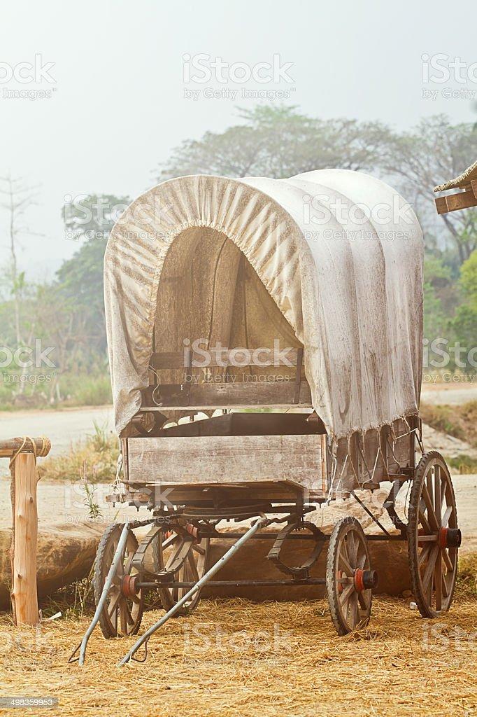Wild West cart stock photo
