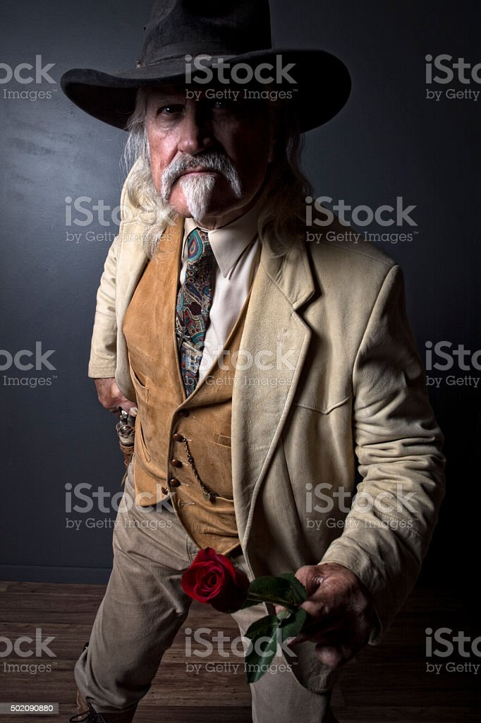 Wild West Cowboy Lawmaker Gunslinger stock photo
