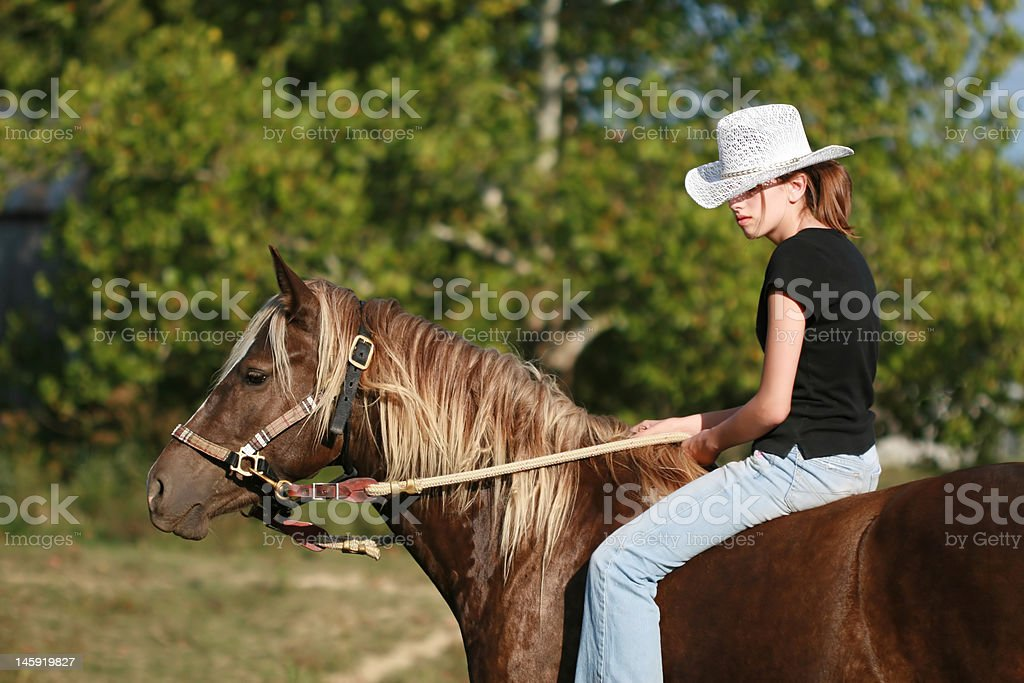 Wild West Cowgirl royalty-free stock photo