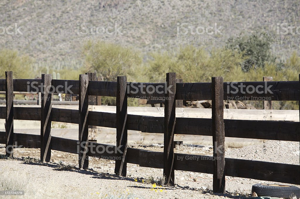 Wild West parete foto stock royalty-free
