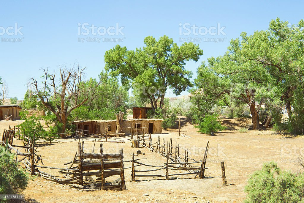 Wild West Homestead royalty-free stock photo