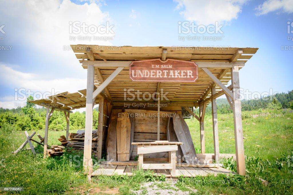 Wild west movie set ,North of Fuzine , Croatia stock photo