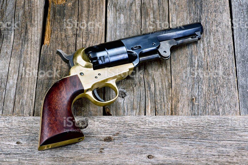 Wild West Pistol. stock photo
