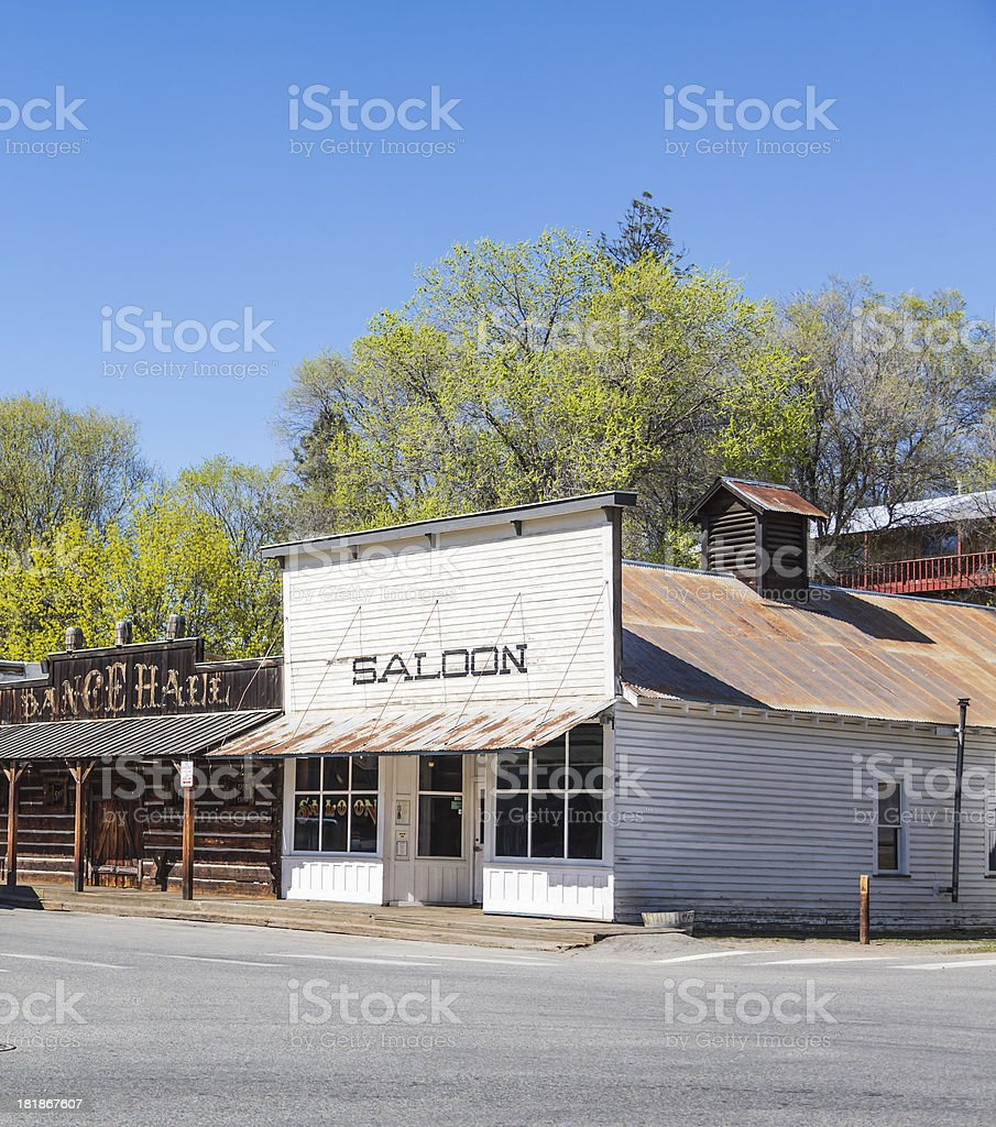 Wild West Saloon and Dance Hall stock photo
