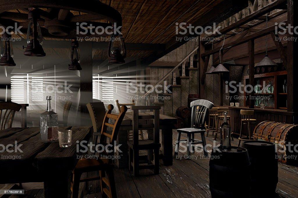 Wild West saloon stock photo