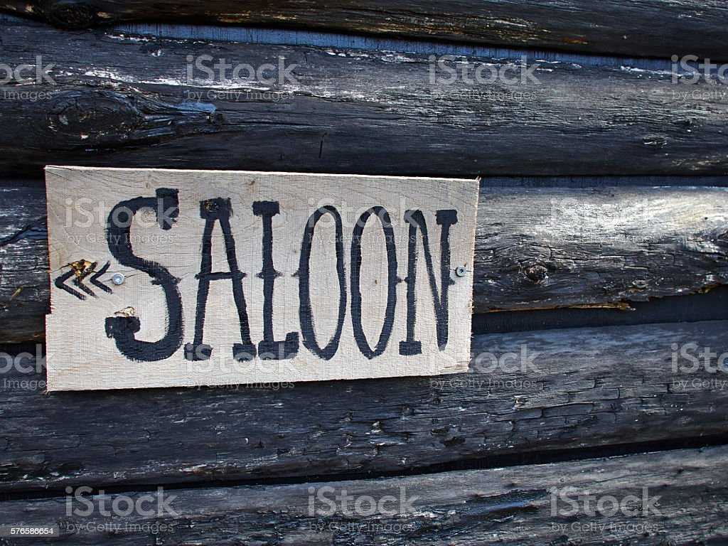 Wild west saloon sign stock photo