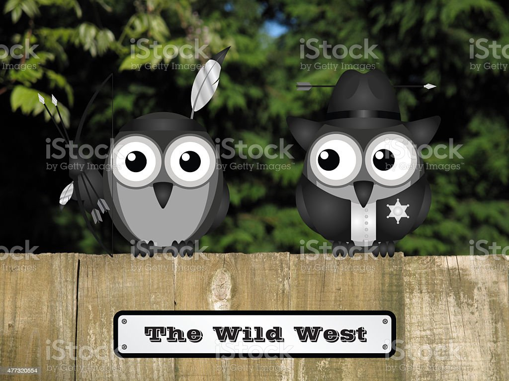 Wild West Sign stock photo