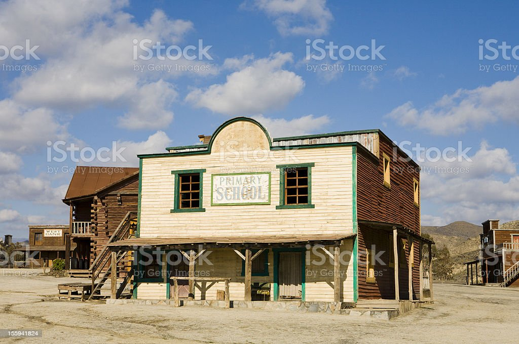 Wild West town royalty-free stock photo