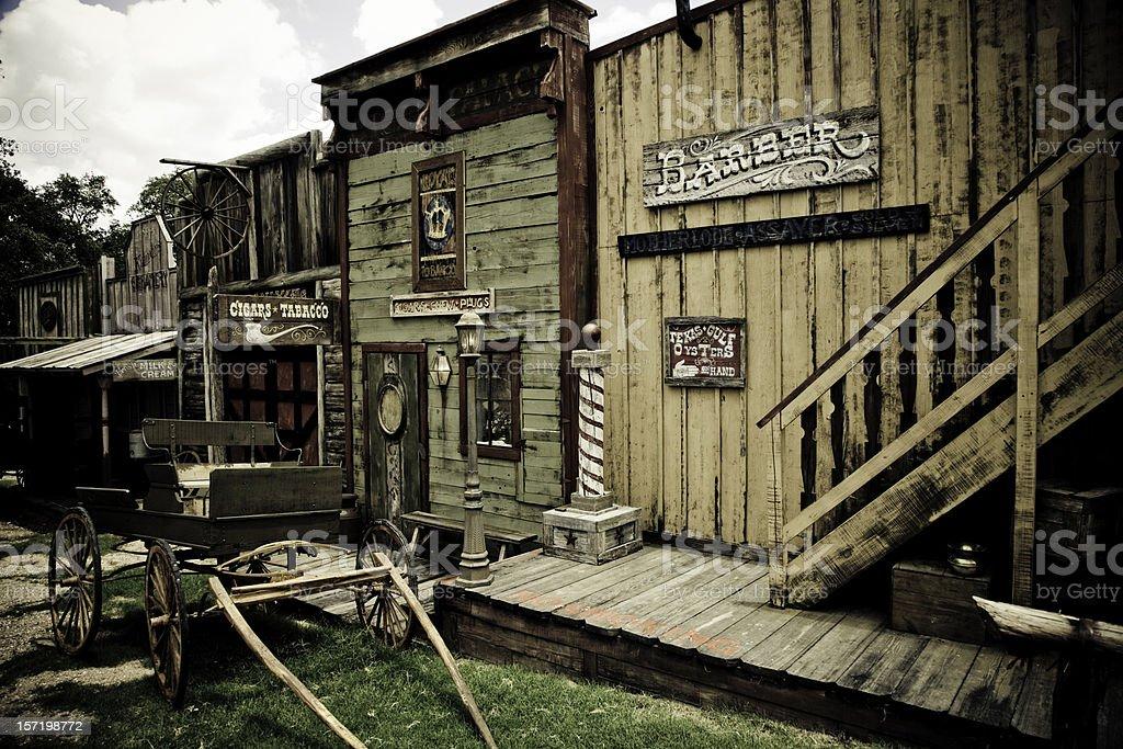 Wild West Town stock photo