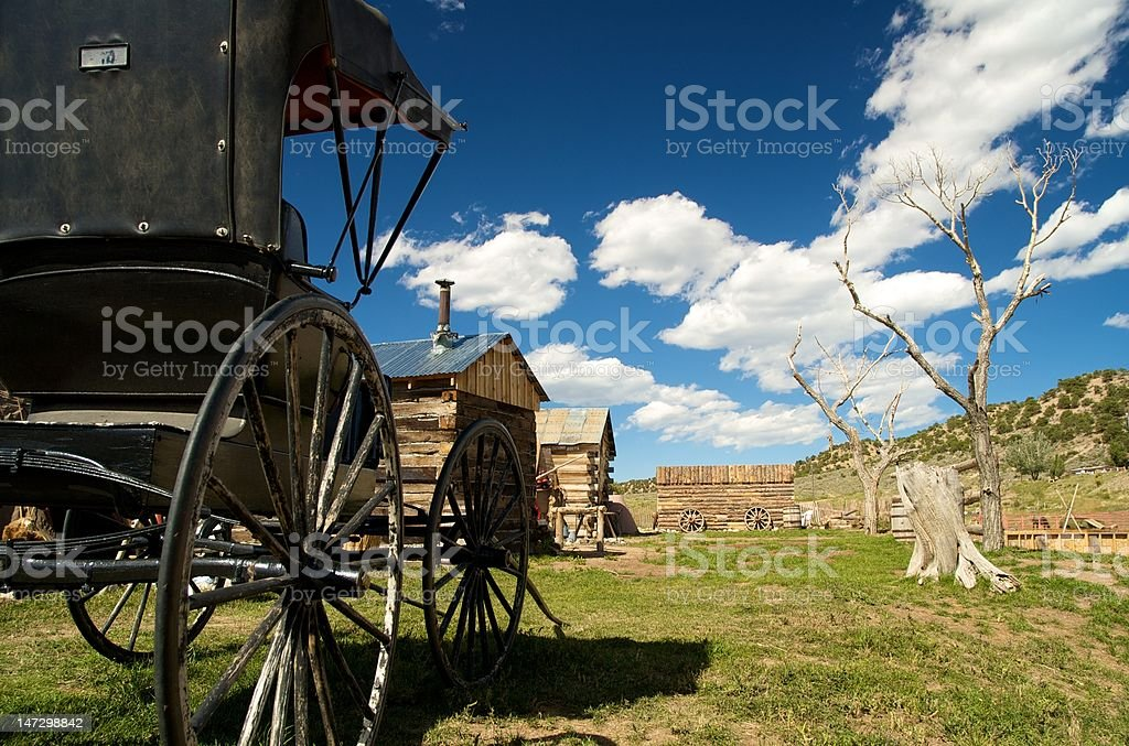 Wild West Wagon stock photo