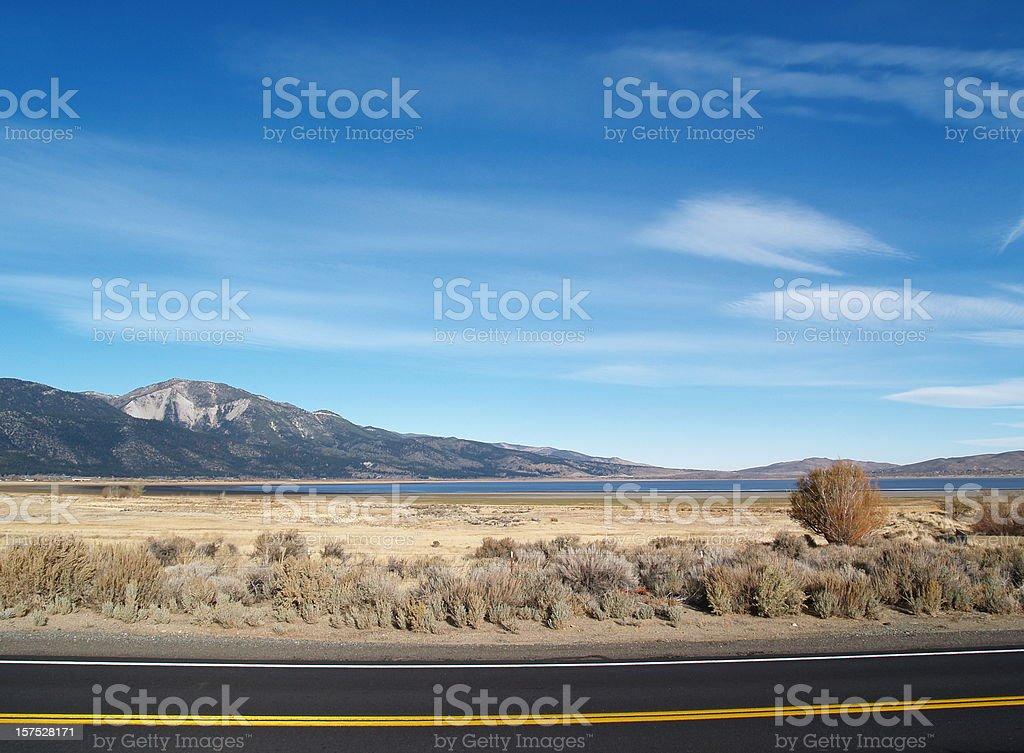 Wild West - Washoe Lake, Nevada stock photo