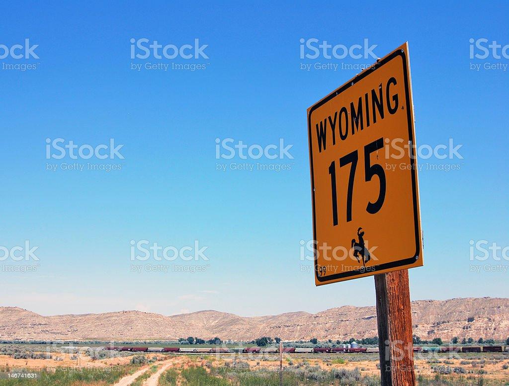 Wild West Wyoming royalty-free stock photo