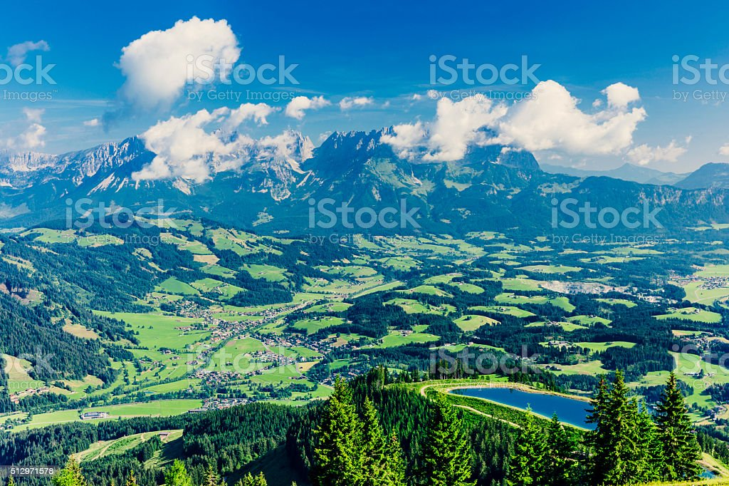 Wilder Kaiser, Austria stock photo