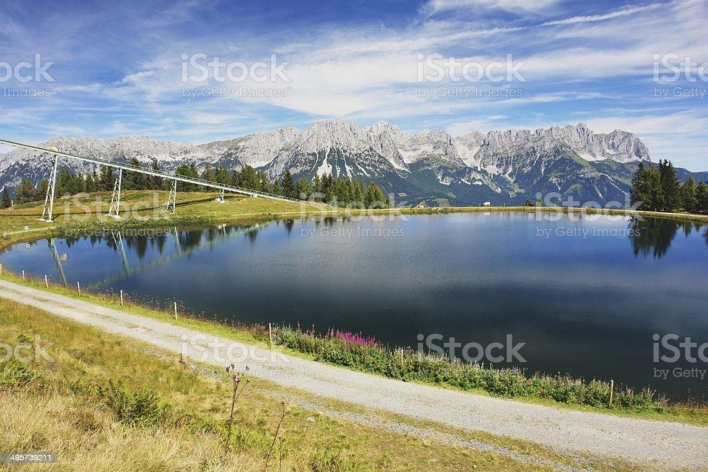 Wilder Kaiser, Austrian Alps royalty-free stock photo