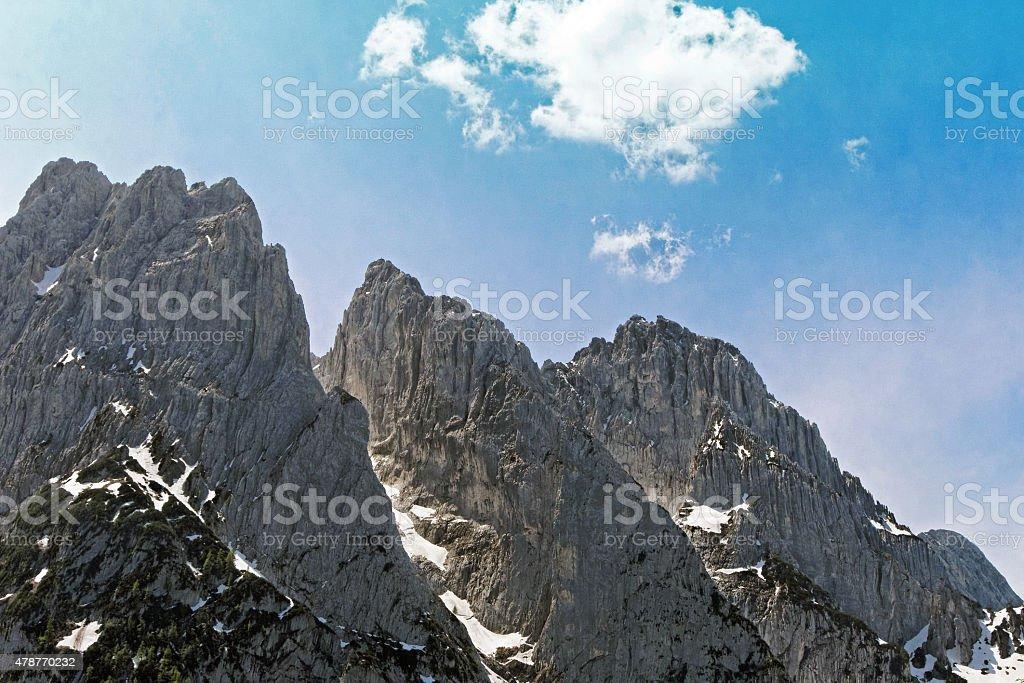 Wilder Kaiser in North Tyrol stock photo