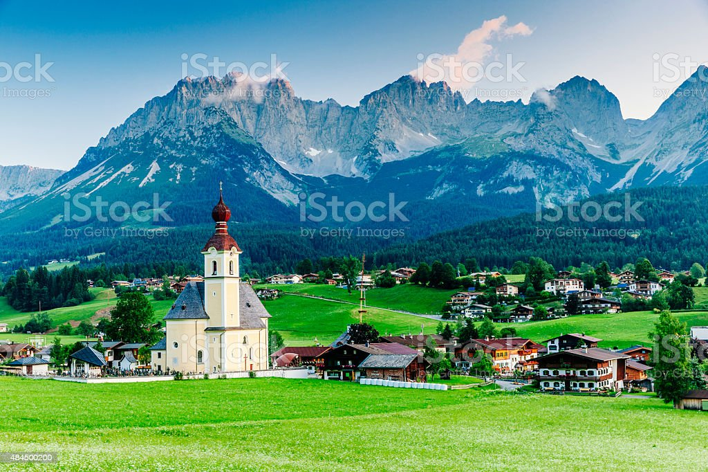 Wilder Kaiser mountain in Austria stock photo