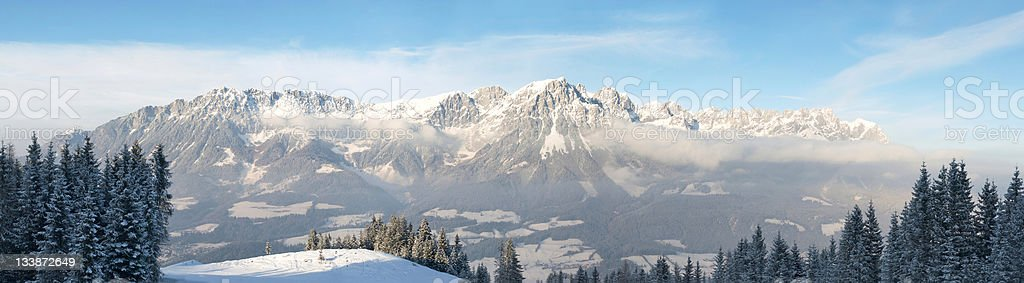 wilder Kaiser mountains stock photo