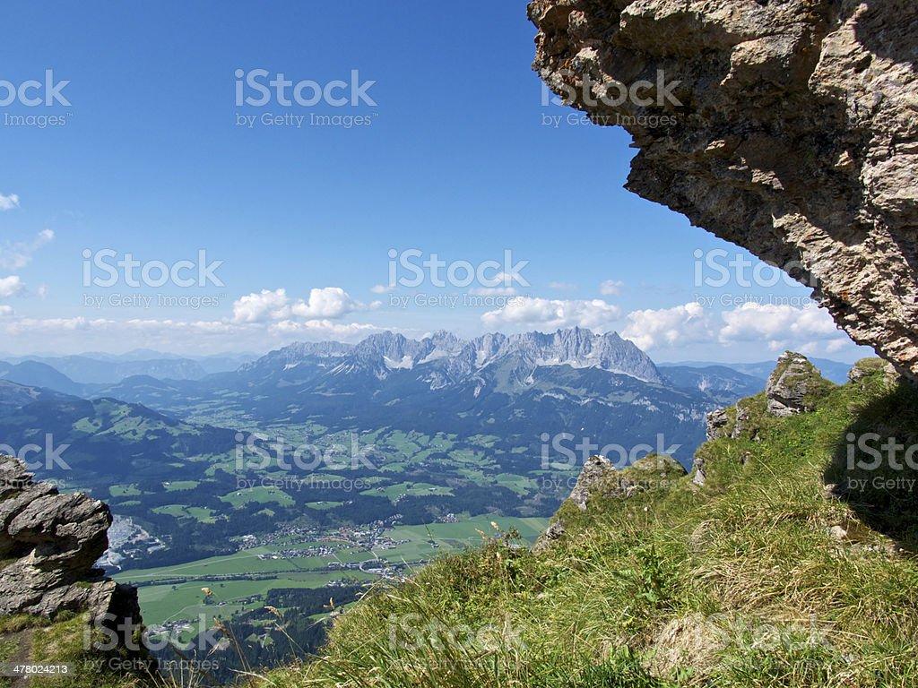 Wilder Kaiser Mountains stock photo