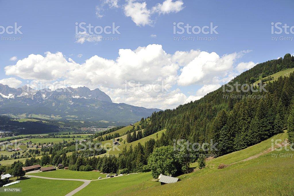 Wilder Kaiser Mountains Tirol stock photo