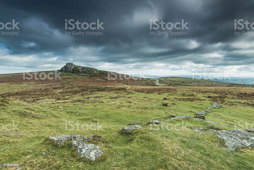 wilderness and adventure in British Dartmoor stock photo