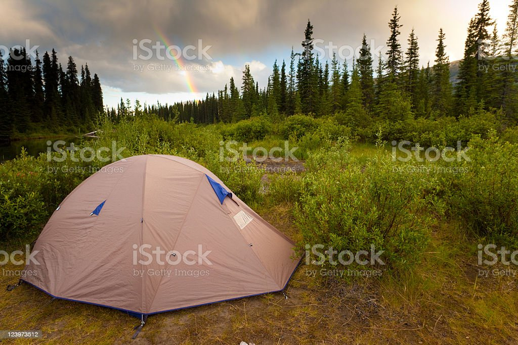 Wilderness Camping Concept royalty-free stock photo