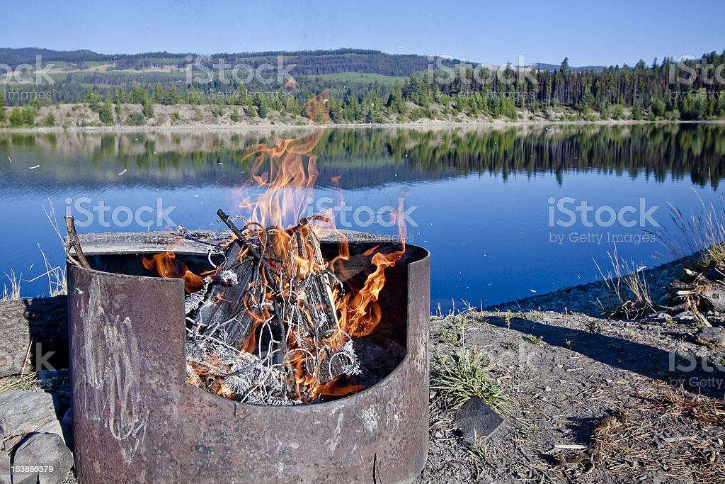 Wilderness Firepit royalty-free stock photo