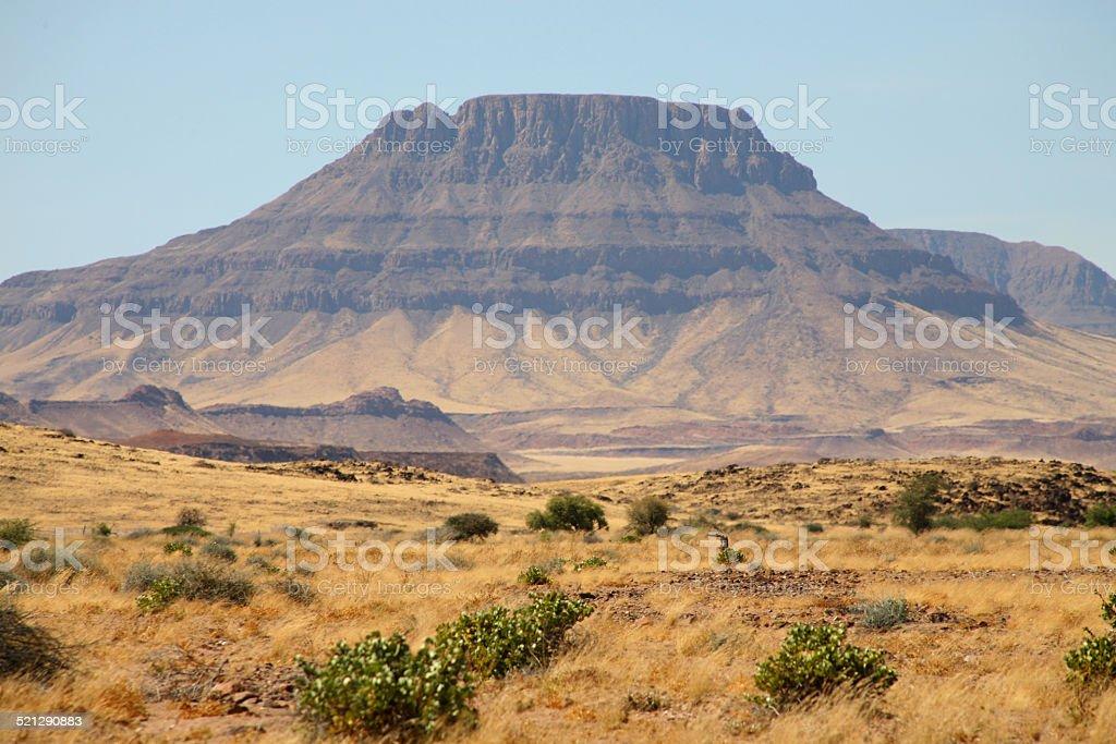 Wilderness in Namibia- Brandberg stock photo