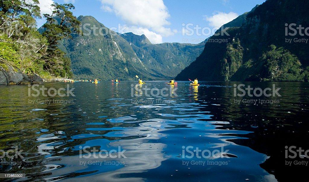 Wilderness Kayacking royalty-free stock photo