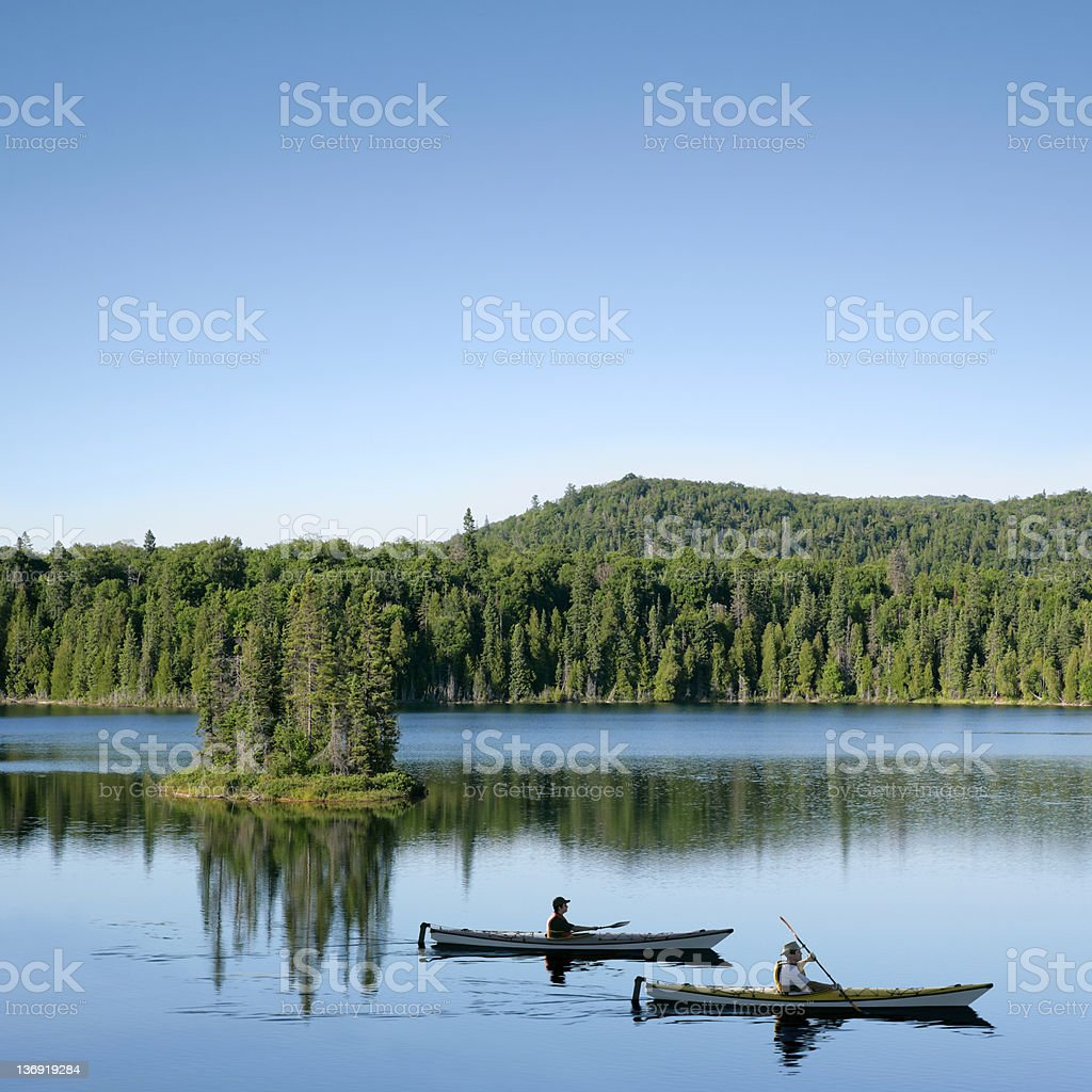 XXXL wilderness lake kayaking royalty-free stock photo