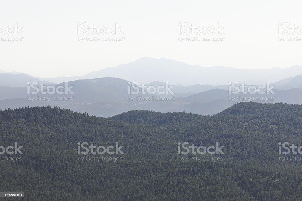 Wilderness Landscape Haze Coconino Forest Arizona royalty-free stock photo