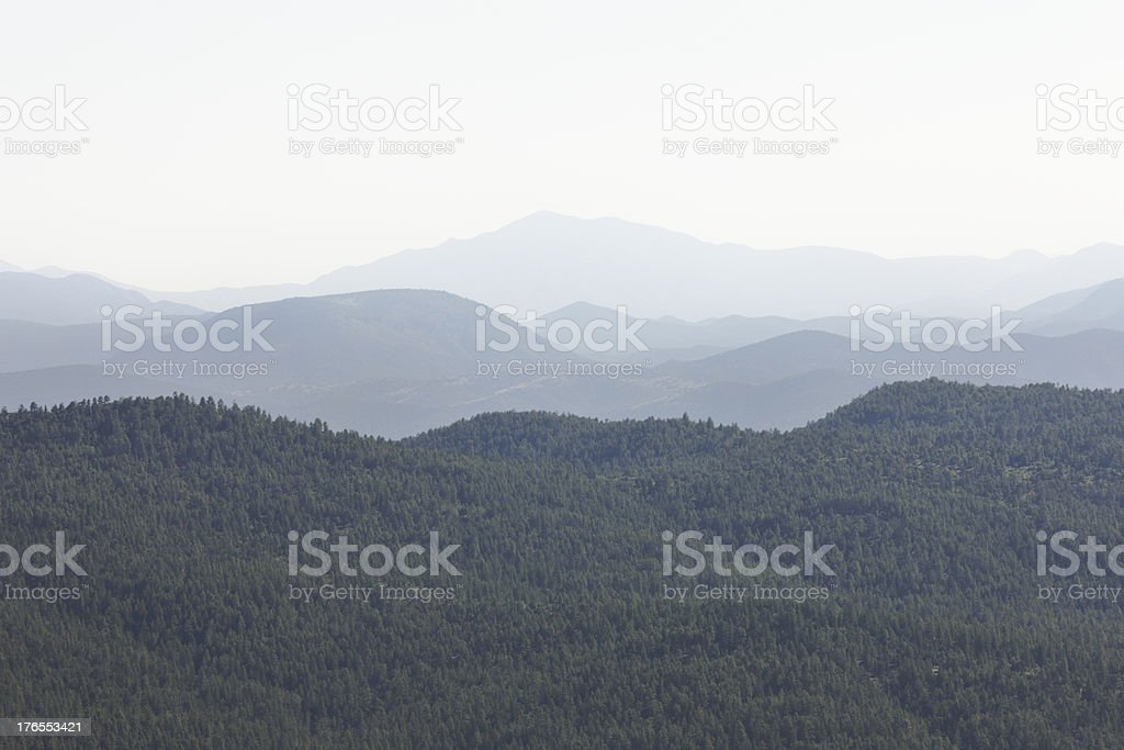 Wilderness Landscape Haze Coconino Forest Arizona stock photo