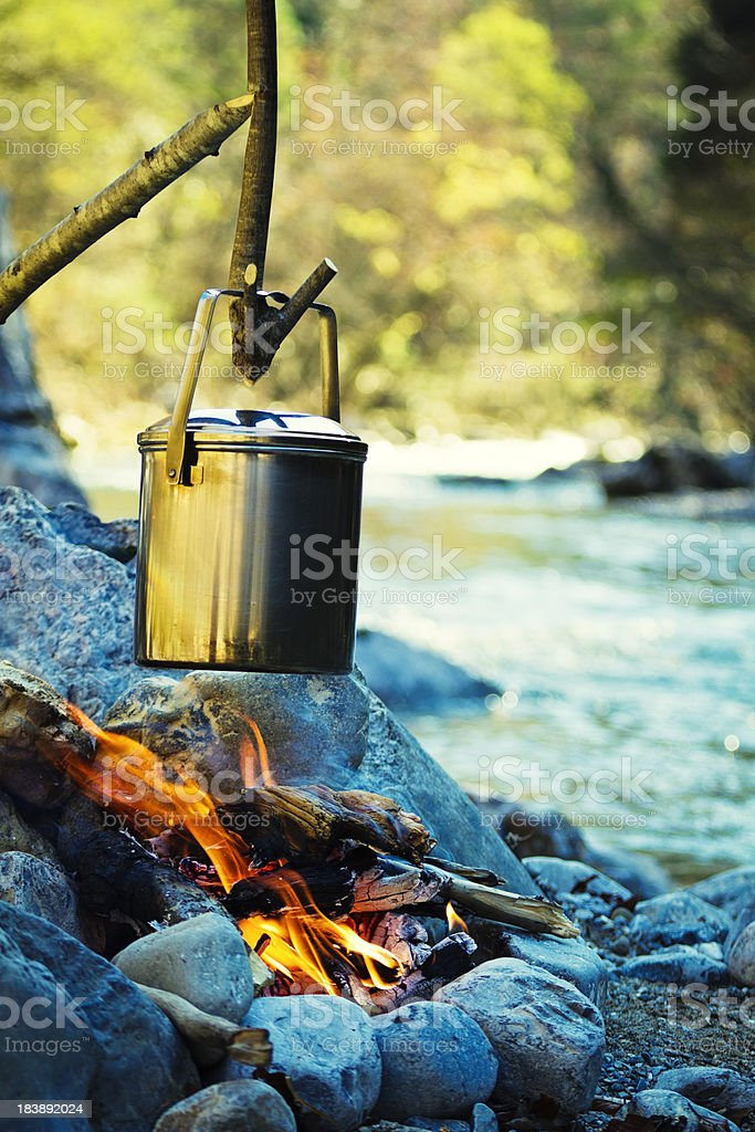 wilderness lunch royalty-free stock photo