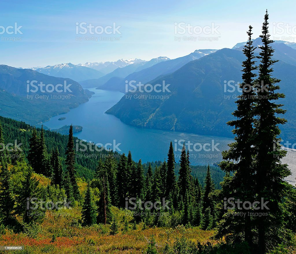 wilderness mountain lake stock photo