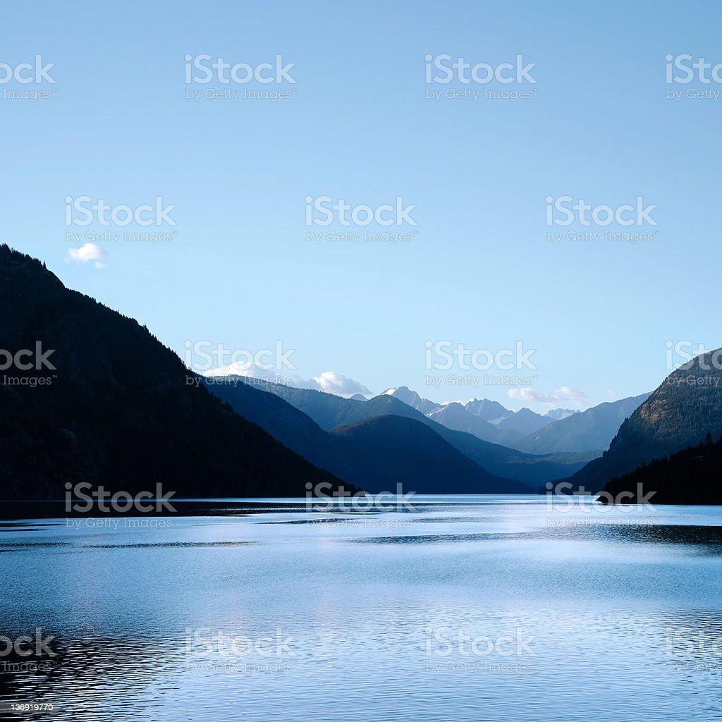 XXXL wilderness mountain lake stock photo
