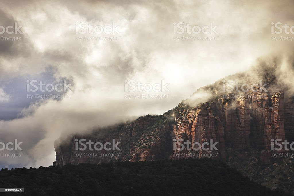 Wilderness Mountain Storm Clouds stock photo